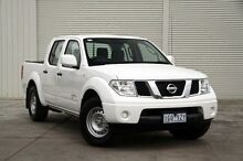 2013 Nissan Navara D40 S7 MY12 RX 4x2 White 5 Speed Automatic Utility Cranbourne Casey Area Preview