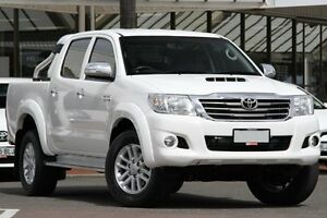 2013 Toyota Hilux KUN26R MY12 SR5 Double Cab Glacier White 5 Speed Manual Utility Christies Beach Morphett Vale Area Preview