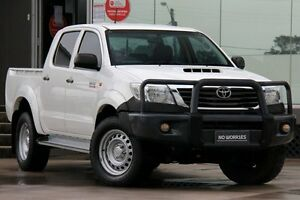 2011 Toyota Hilux KUN26R MY12 SR (4x4) White 4 Speed Automatic Dual Cab Pick-up Old Guildford Fairfield Area Preview