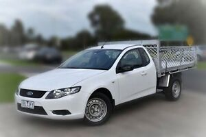 2010 Ford Falcon FG Super Cab White 4 Speed Sports Automatic Cab Chassis Berwick Casey Area Preview