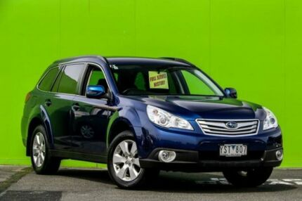 2011 Subaru Outback B5A MY11 2.5i Lineartronic AWD Blue 6 Speed Constant Variable Wagon Ringwood East Maroondah Area Preview