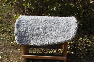 Double Loop Wool Saddle Pads