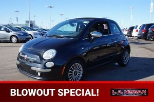 2012 FIAT 500 CONVERTIBLE LOUNGE Leather,  Heated Seats,  Blueto