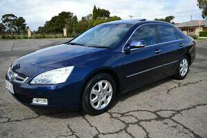 2004 Honda Accord 40 V6 Luxury Blue 5 Speed Automatic Sedan Blair Athol Port Adelaide Area Preview