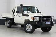 2011 Toyota Landcruiser VDJ79R 09 Upgrade Workmate (4x4) White 5 Speed Manual Cab Chassis Bentley Canning Area Preview