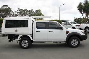 2009 Ford Ranger PK XL Crew Cab Cool White 5 Speed Manual Cab Chassis Acacia Ridge Brisbane South West Preview