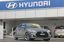 2013 Hyundai Veloster FS MY13 SR Turbo Grey 6 Speed Automatic Coupe Arncliffe Rockdale Area Preview