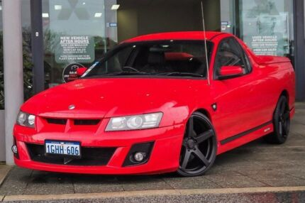 2006 Holden Special Vehicles Maloo Z Series MY06 Red 4 Speed Automatic Utility