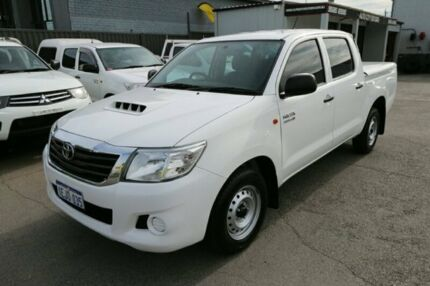 2012 Toyota Hilux KUN16R MY12 SR Double Cab 4x2 White 5 Speed Manual Utility Cheltenham Kingston Area Preview