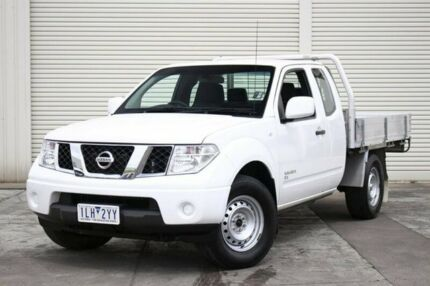 2012 Nissan Navara D40 S7 MY12 RX King Cab White 5 Speed Automatic Cab Chassis