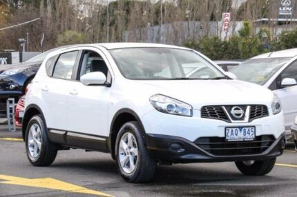 2012 Nissan Dualis J10 Series II MY2010 ST Hatch X-tronic White 6 Speed Constant Variable Hatchback Ringwood East Maroondah Area Preview