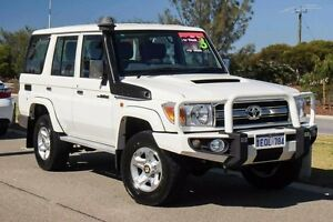 2014 Toyota Landcruiser VDJ76R MY13 GXL White 5 Speed Manual Wagon Mindarie Wanneroo Area Preview