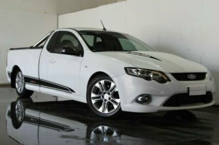 2008 Ford Falcon FG XR8 EXTENDED CAB White Semi Auto Utility Underwood Logan Area Preview