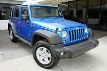 2015 Jeep Wrangler JK MY2015 Unlimited Sport Atlantic Blue 5 Speed Automatic Softtop Buderim Maroochydore Area Preview