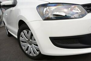 2012 Volkswagen Polo 6R MY12 Update Trendline White 7 Speed Automatic Hatchback Glendalough Stirling Area Preview
