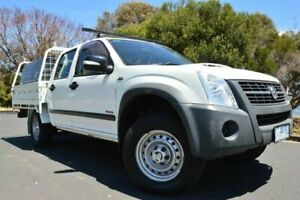 2008 Holden Rodeo RA MY08 LX Crew Cab White 5 Speed Manual Cab Chassis Derwent Park Glenorchy Area Preview