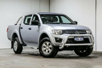2010 Mitsubishi Triton MN MY10 GL-R Double Cab Silver 4 Speed Automatic Utility Welshpool Canning Area Preview
