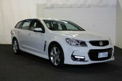 2015 Holden Commodore VF II MY16 SV6 Sportwagon Heron White 6 Speed Sports Automatic Wagon