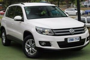 2012 Volkswagen Tiguan 5N MY13 132TSI Tiptronic 4MOTION Pacific White 6 Speed Sports Automatic Wagon Berwick Casey Area Preview
