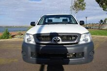 2010 Toyota Hilux TGN16R MY10 Workmate White 5 Speed Manual Cab Chassis Blair Athol Port Adelaide Area Preview