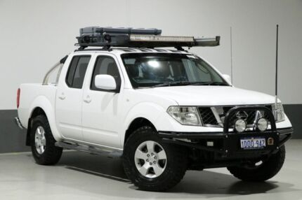 2011 Nissan Navara D40 ST (4x4) White 6 Speed Manual Dual Cab Pick-up Bentley Canning Area Preview