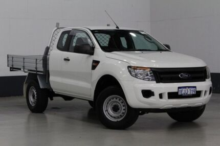 2013 Ford Ranger PX XL 2.2 HI-Rider (4x2) White 6 Speed Automatic Super C/Chas
