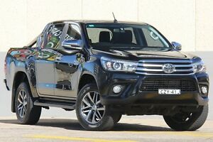 2015 Toyota Hilux GUN126R SR5 (4x4) Black 6 Speed Automatic Dual Cab Utility Wolli Creek Rockdale Area Preview