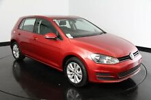2014 Volkswagen Golf VII MY14 90TSI DSG Comfortline Sunset Red 7 Speed Sports Automatic Dual Clutch Victoria Park Victoria Park Area Preview