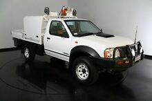 2008 Nissan Navara D22 MY2008 DX White 5 Speed Manual Cab Chassis Welshpool Canning Area Preview