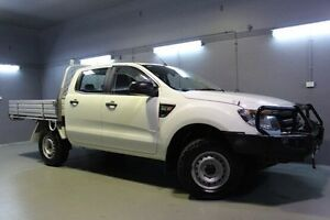 2013 Ford Ranger PX XL Double Cab White 6 Speed Sports Automatic Cab Chassis Invermay Launceston Area Preview