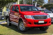 2014 Toyota Hilux KUN26R MY14 SR Double Cab Red/Black 5 Speed Automatic Utility Aspley Brisbane North East Preview