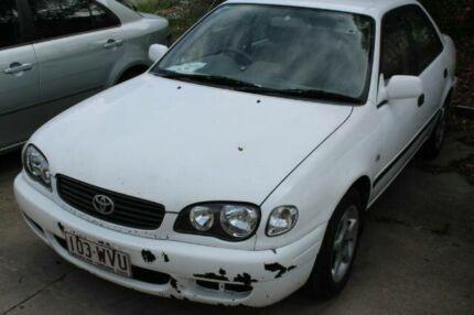 2000 Toyota Corolla AE112R Ascent White 4 Speed Automatic Sedan Underwood Logan Area Preview