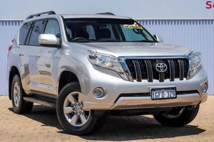 2017 Toyota Landcruiser Prado GDJ150R GXL Silver 6 Speed Sports Automatic Wagon Morley Bayswater Area Preview