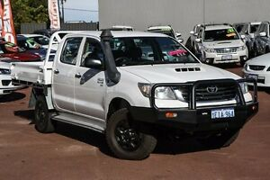 2013 Toyota Hilux KUN26R MY12 SR Double Cab White 5 Speed Manual Utility Cannington Canning Area Preview