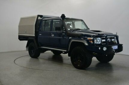 2018 Toyota Landcruiser VDJ79R GXL Double Cab Blue 5 Speed Manual Cab Chassis Victoria Park Victoria Park Area Preview