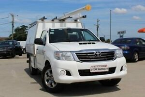 2013 Toyota Hilux KUN16R MY12 Workmate White 5 Speed Manual Cab Chassis Lansvale Liverpool Area Preview