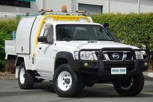 2012 Nissan Patrol Y61 GU 6 SII MY13 DX White 5 Speed Manual Cab Chassis Acacia Ridge Brisbane South West Preview