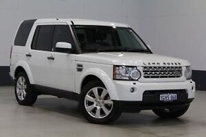 2012 Land Rover Discovery 4 MY13 3.0 SDV6 HSE White 8 Speed Automatic Wagon Bentley Canning Area Preview