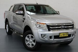 2013 Ford Ranger PX XLT Double Cab Silver 6 Speed Sports Automatic Utility Glendale Lake Macquarie Area Preview