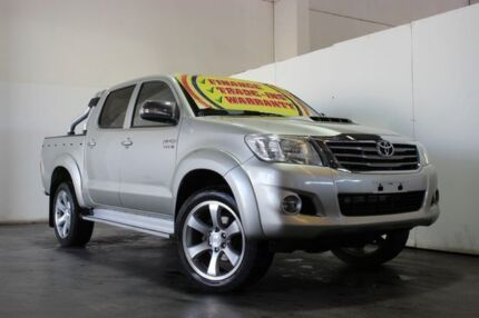 2013 Toyota Hilux KUN26R MY12 SR5 (4x4) Silver 4 Speed Automatic Dual Cab Pick-up