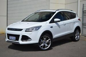 2015 Ford Kuga TF MY15 Titanium PwrShift AWD White 6 Speed Sports Automatic Dual Clutch Wagon
