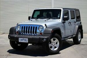 2011 Jeep Wrangler JK MY2011 Unlimited Sport Silver 6 Speed Manual Softtop Seaford Frankston Area Preview