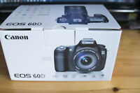 Brand New Canon EOS 60D with warranty. unopened box + extra