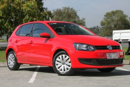 2013 Volkswagen Polo 6R MY13.5 Trendline DSG Red 7 Speed Sports Automatic Dual Clutch Hatchback Springwood Logan Area Preview