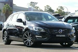 2016 Volvo V60 F MY16 D4 Luxury Magic Blue 8 Speed Automatic Wagon Dee Why Manly Area Preview