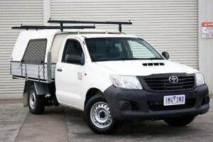 2012 Toyota Hilux KUN16R MY12 Workmate White 5 Speed Manual Cab Chassis