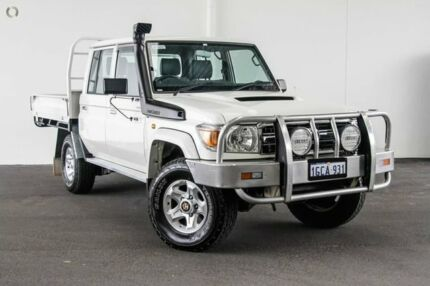 2016 Toyota Landcruiser VDJ79R GXL Double Cab French Vanilla 5 Speed Manual Cab Chassis Rockingham Rockingham Area Preview