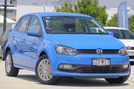 2016 Volkswagen Polo 6R MY16 66TSI Trendline Blue 5 Speed Manual Hatchback