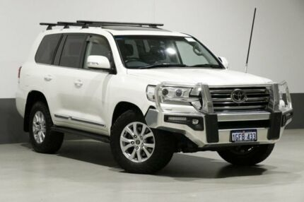 2016 Toyota Landcruiser VDJ200R MY16 Sahara (4x4) White 6 Speed Automatic Wagon Bentley Canning Area Preview