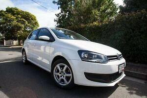 2011 Volkswagen Polo 6R MY11 77TSI Comfortline White 6 Speed Manual Hatchback Hove Holdfast Bay Preview